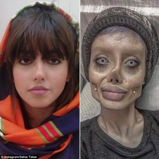 Sahar faz sucesso nas redes sociais com sua versão zumbi (Foto: Reprodução / Instagram)