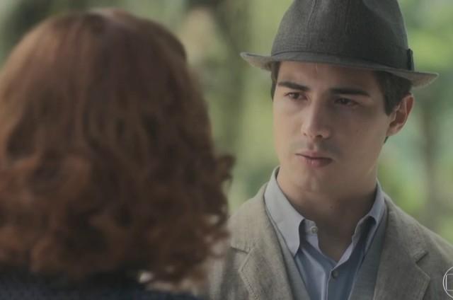 Mabel (Carla Nunes) e Carlos (Danilo Mesquita) (Foto: Reprodução/TV Globo)