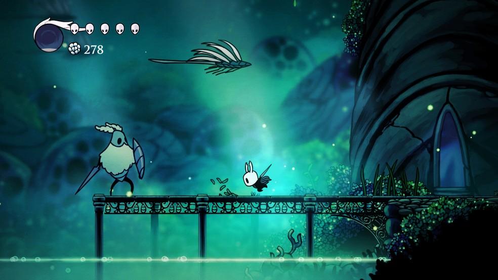 Em Hollow Knight, os jogadores controlam um pequeno cavaleiro em um mundo de insetos — Foto: Reprodução/Steam