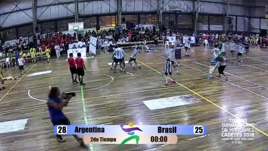Narração de Argentina x Brasil tem euforia após título hermano no Sul-Americano de handebol
