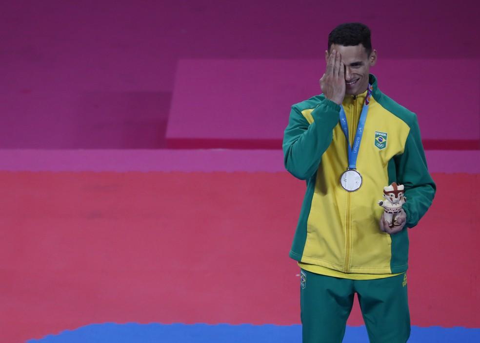 Ícaro Martins conquista a prata nos Jogos Pan-Americanos Lima 2019 — Foto: REUTERS/Susana Vera