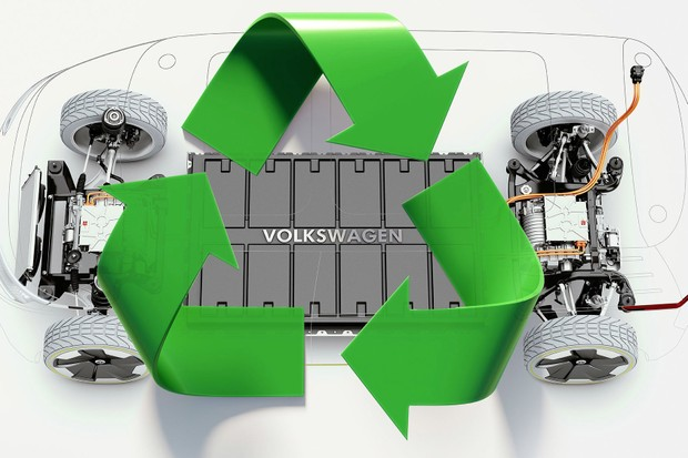 Green recycling symbol on white background. Horizontal composition with copy space.  Clipping path is included. Green energy concept. (Foto: Getty Images/iStockphoto)