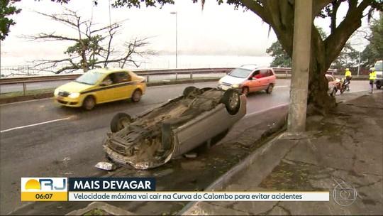 Alto índice de acidentes provoca redução de velocidade na Curva do Calombo, Zona Sul do Rio