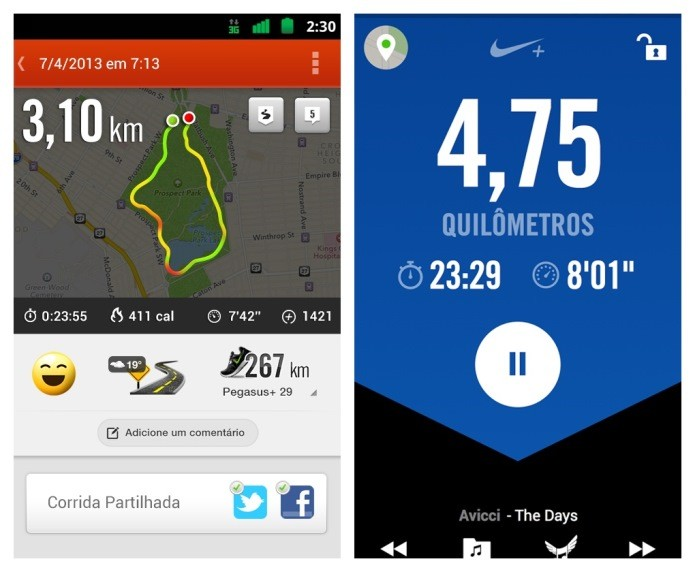 O aplicativo da Nike é um dos mais completos (Foto: Divulgação)