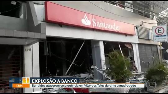Criminosos explodem agência bancária em São João de Meriti, na Baixada Fluminense