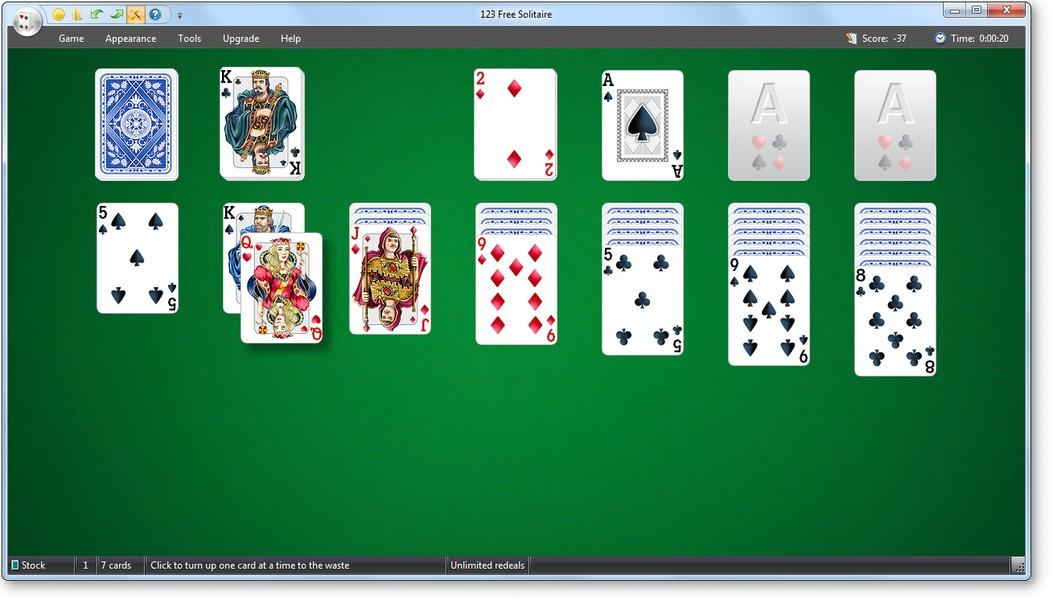 لعبة 123 free solitaire