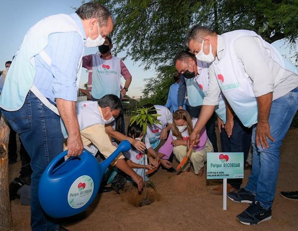 Inauguração do Projeto Parque Recordar em São Raimundo Nonato — Foto: Divulgação/Prefeitura de São Raimundo Nonato