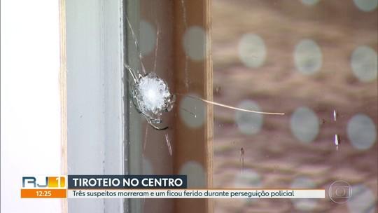 Três pessoas morreram e uma ficou ferida durante tiroteio no Centro