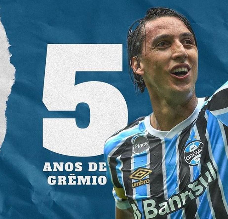 Com mais de 100 jogos sem sofrer gol, Geromel festeja cinco anos no Grêmio