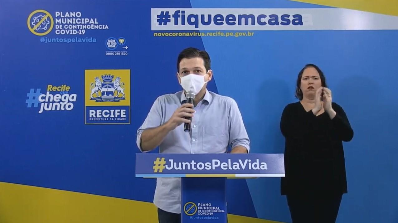 Recife receberá mais 36 respiradores no mês de junho, diz prefeito