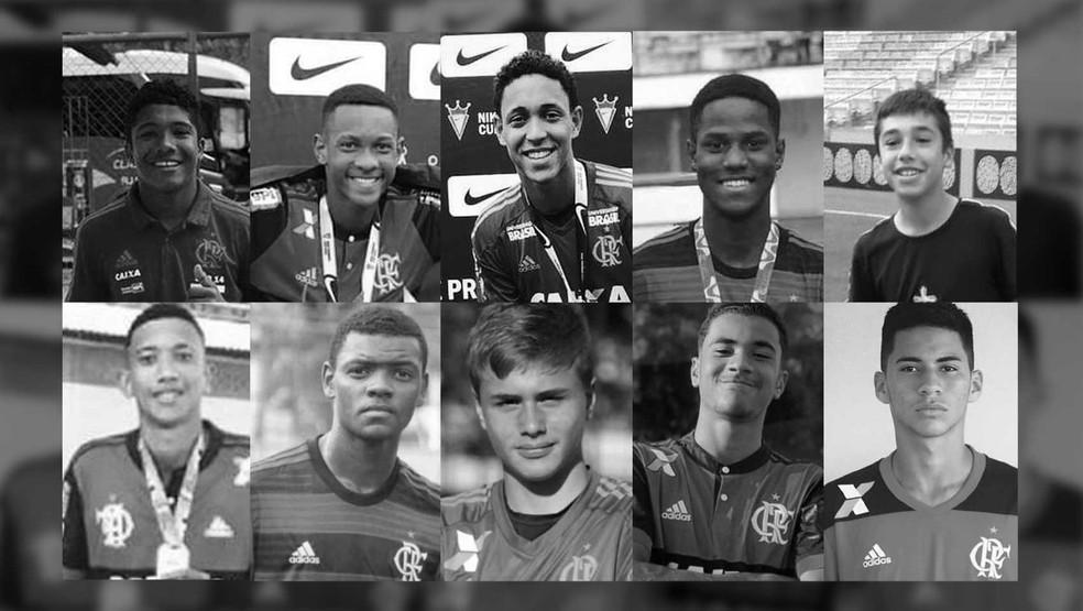 Quem são os 10 garotos mortos no incêndio do CT do Flamengo — Foto: Roberta Jaworski/Arte G1