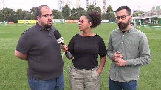 Após apresentação, Ramires participa de atividade no campo com elenco do Palmeiras