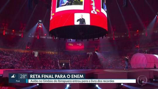 Aulão pré-Enem no ginásio do Ibirapuera entra para livro dos recordes