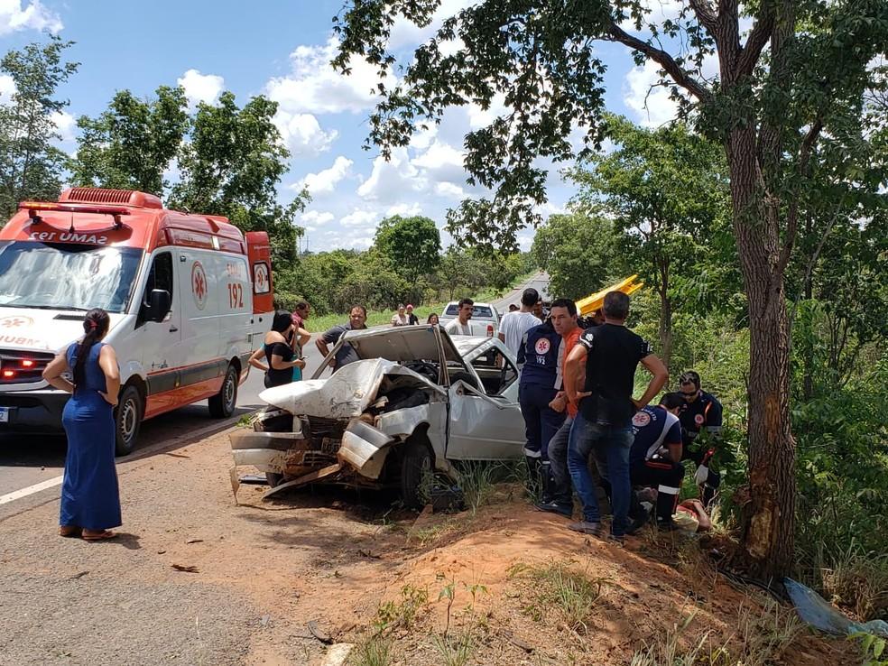 Caso aconteceu em trecho da cidade de Barreiras — Foto: Paiva/Blog do Braga
