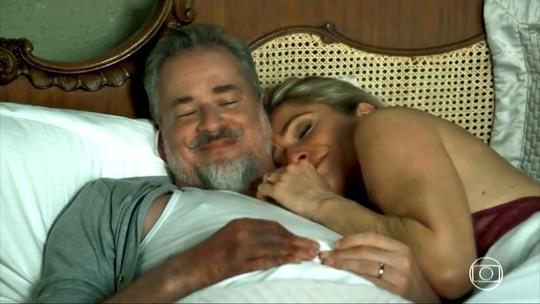 Maldição de Eurico acaba e ele surpreende Marilda com noite de amor