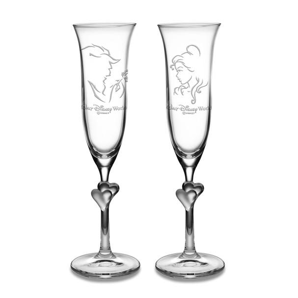 A Bela e a Fera: jogo de taças de champanhe, com 2 peças, 75 dólares (Foto: Divulgação)