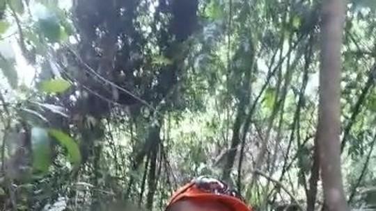 Corpo de Bombeiros encontra criança que estava perdida por quase cinco horas em mata no Triângulo Mineiro