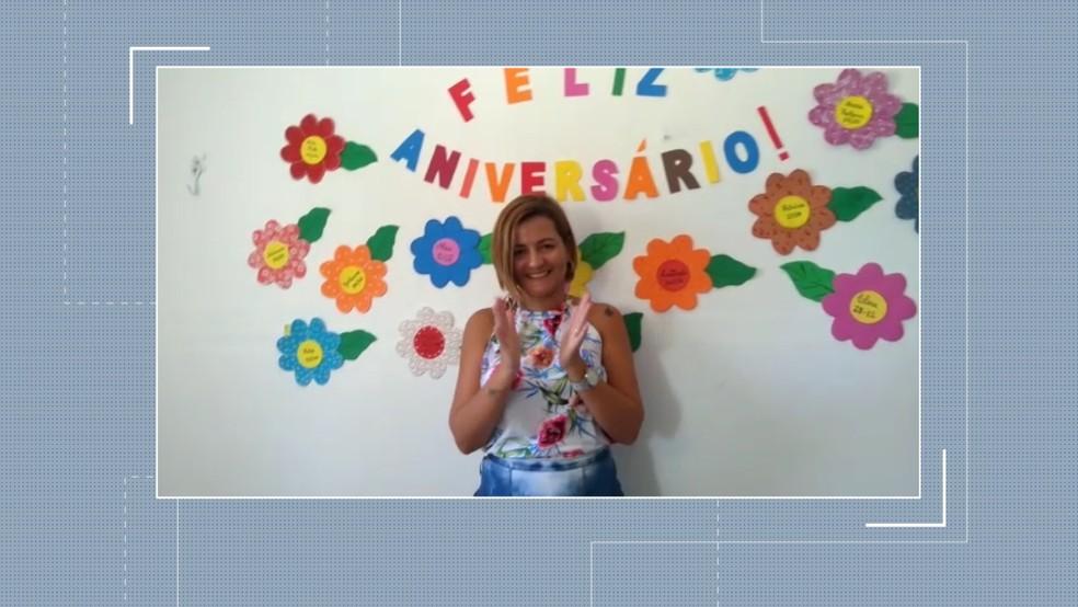 Dayse completou 40 anos na sexta-feira (12) e ganhou festa supresa de amigos na manhã desta segunda (15), na PB — Foto: Reprodução/TV Paraíba