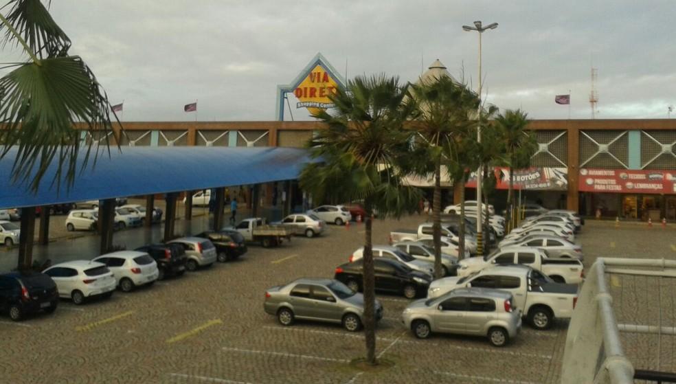 Shopping Via Direta, em Natal, vai a leilão por dívidas trabalhistas (Foto: Lucas Cortez/G1)