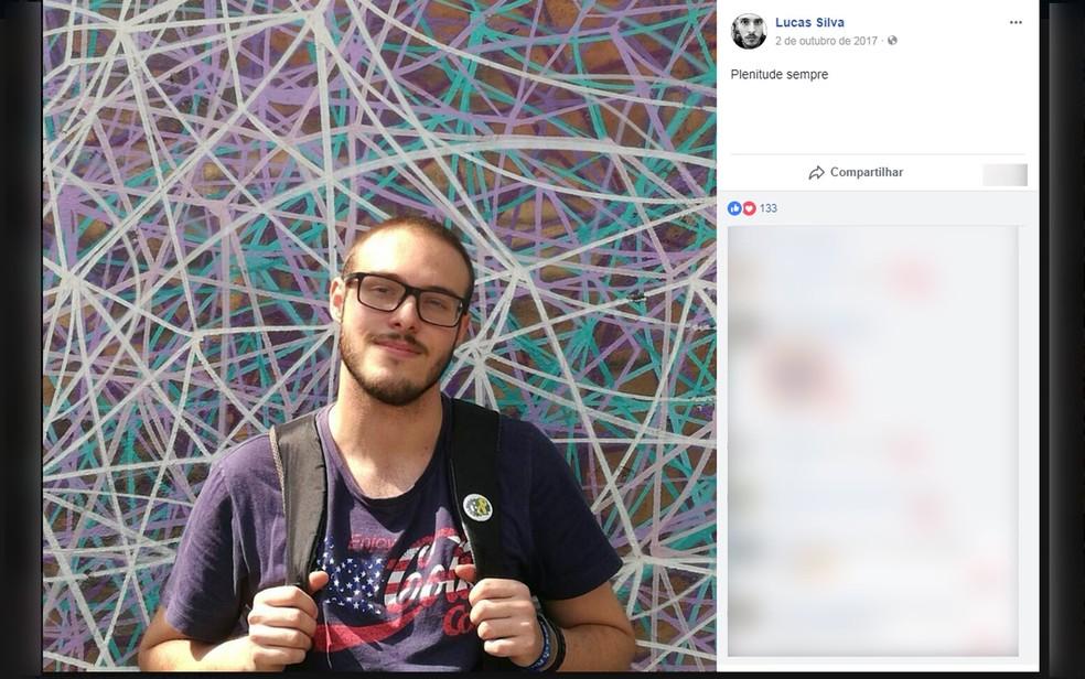 Lucas Antônio Lacerda da Silva, de 22 anos, foi eletrocutado ao encostar em um poste no Centro de SP (Foto: Reprodução/Facebook)