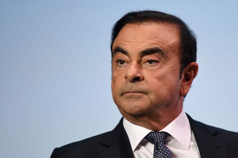 Ex-presidente da aliança Renault-Nissan Carlos Ghosn, em foto do dia 1º de outubro   — Foto: Eric Piermont / AFP