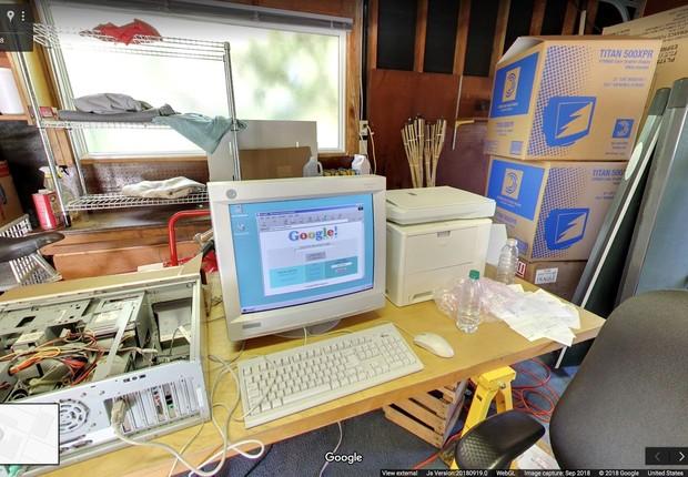 Busca do Google em 1998 (Foto: Divulgação/Google)