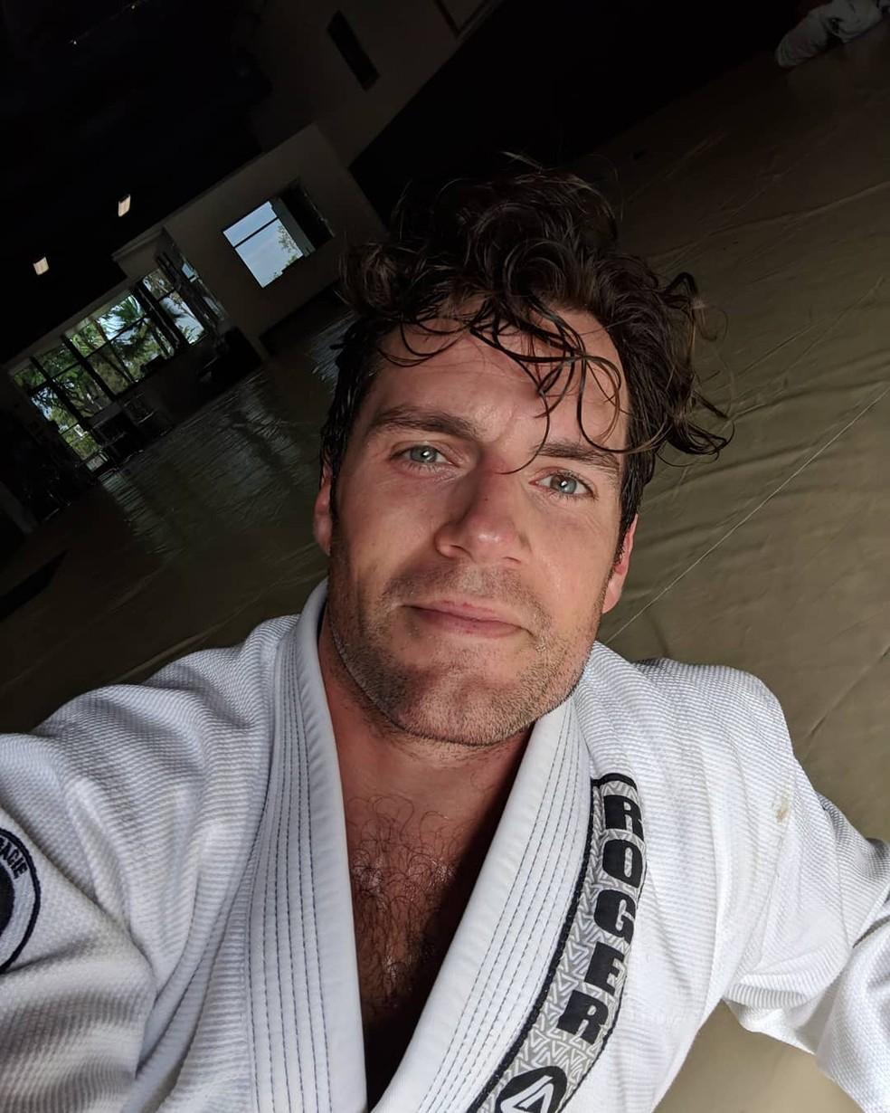 Henry Cavill é fã do jiu-jítsu brasileiro  — Foto: Reprodução