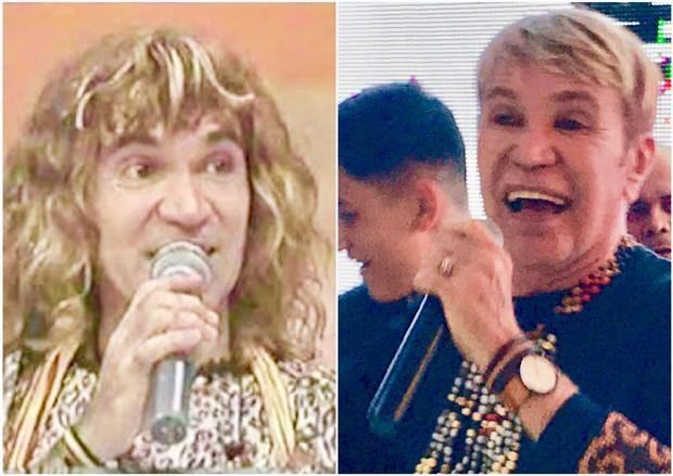 Zezinho Corrêa, do Carrapicho, nos anos 90 e atualmente (Foto: Reprodução)