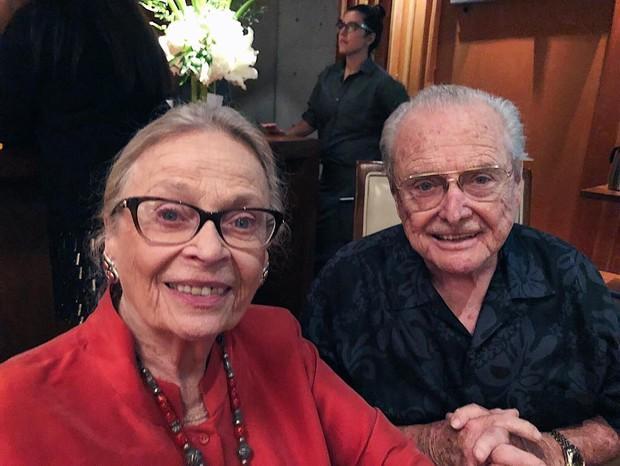 William Daniels e a mulher (Foto: Instagram/Reprodução)