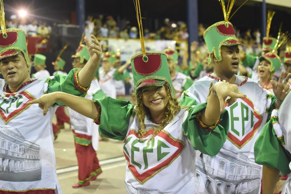 Império de Samba Quem São Eles Carnaval de Belém 2020 — Foto: Fernando Sette/Comus