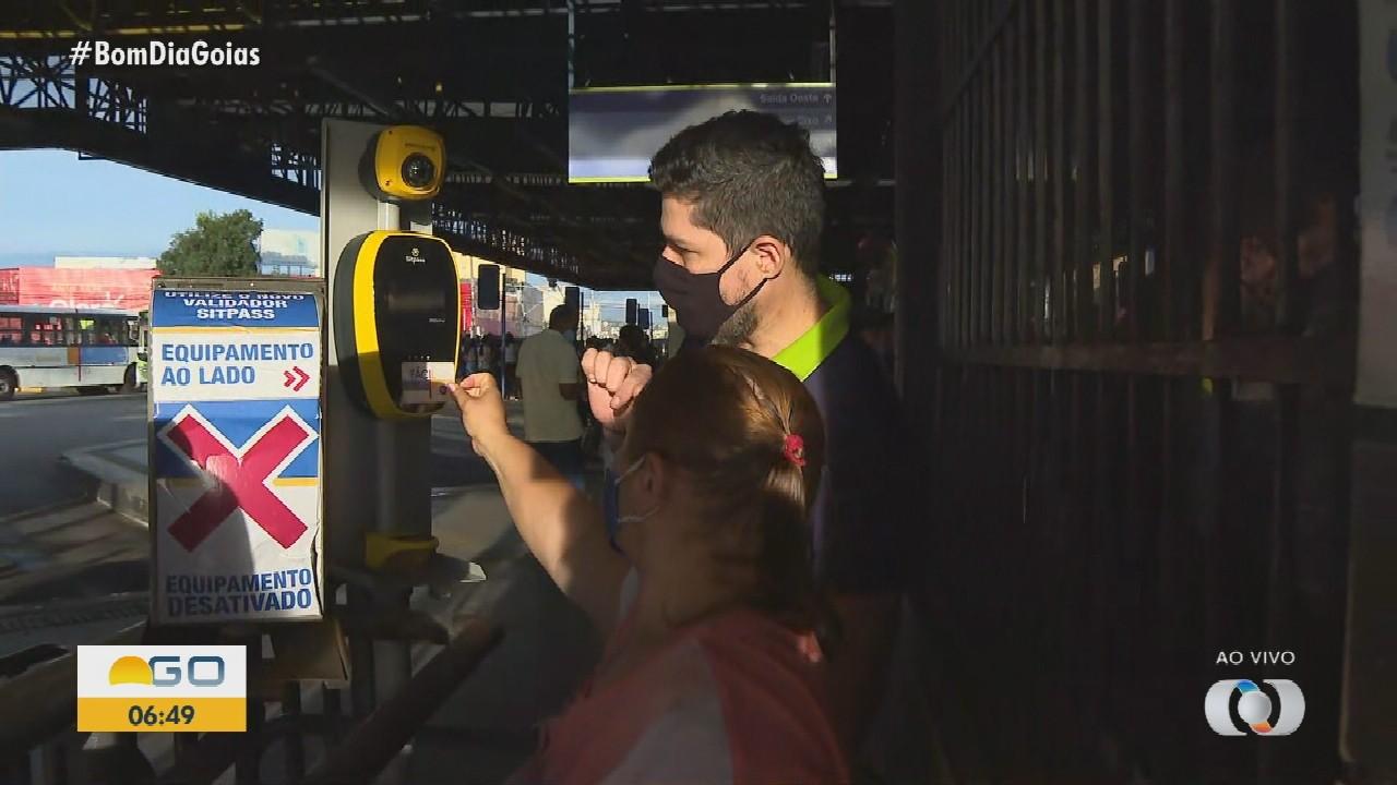 Confira 1º dia útil de novo sistema de bilhetagem no transporte coletivo da Grande Goiânia