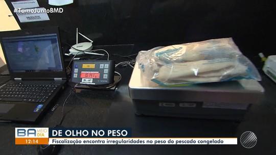 Inmetro faz fiscalização em busca de irregularidades no peso do pescado congelado