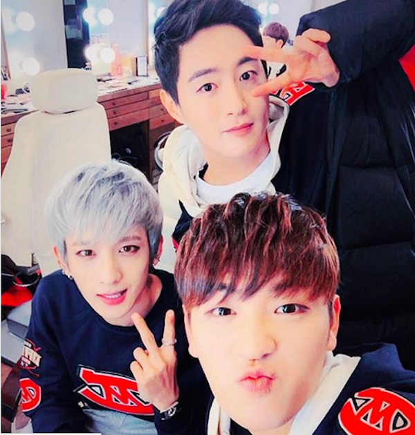 A foto com a qual o cantor Woo Changbum homenageou seu amigo e ex-colega de 100%, o músico Seo Minwoo (Foto: Instagram)