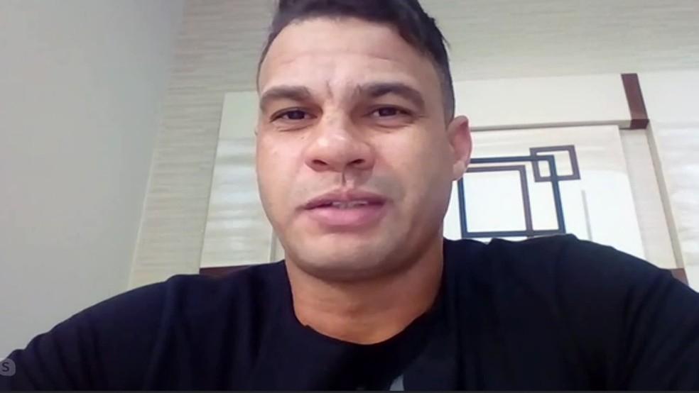 Reinaldo lembra acesso de 2005 pelo Santa Cruz — Foto: Reprodução / TV Globo