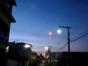Campo Belo, bola de fogo, fenômeno, vídeo (Foto: Reprodução/ EPTV)