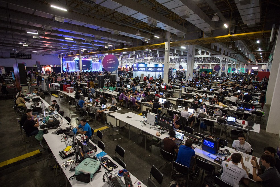 Área exclusiva dos campuseiros na Campus Party 2019 — Foto: Fábio Tito/G1