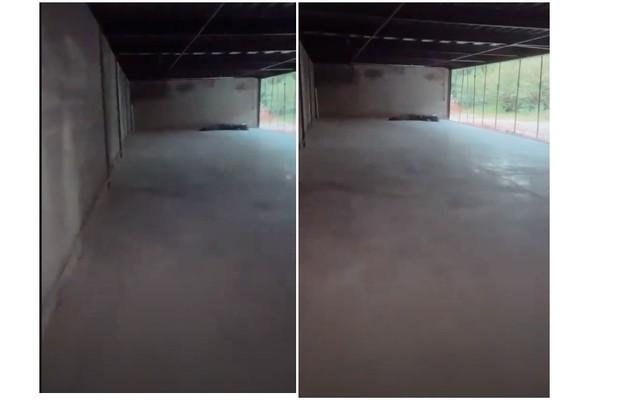 A garagem da mansão tem capacidade para 15 carros (Foto: Reprodução)