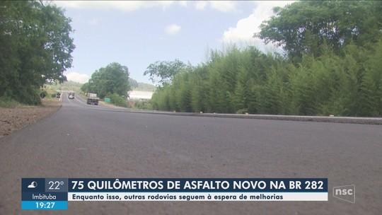 Revitalização da BR-282 em SC é entregue; outras estradas do Oeste do estado seguem em más condições