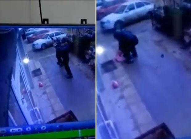Os dois homens salvaram a menina, que caiu do quinto andar (Foto: Reprodução/ Youtube)