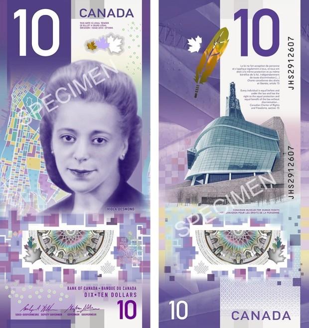 Nova cédula canadense (Foto: Bank of Canada)