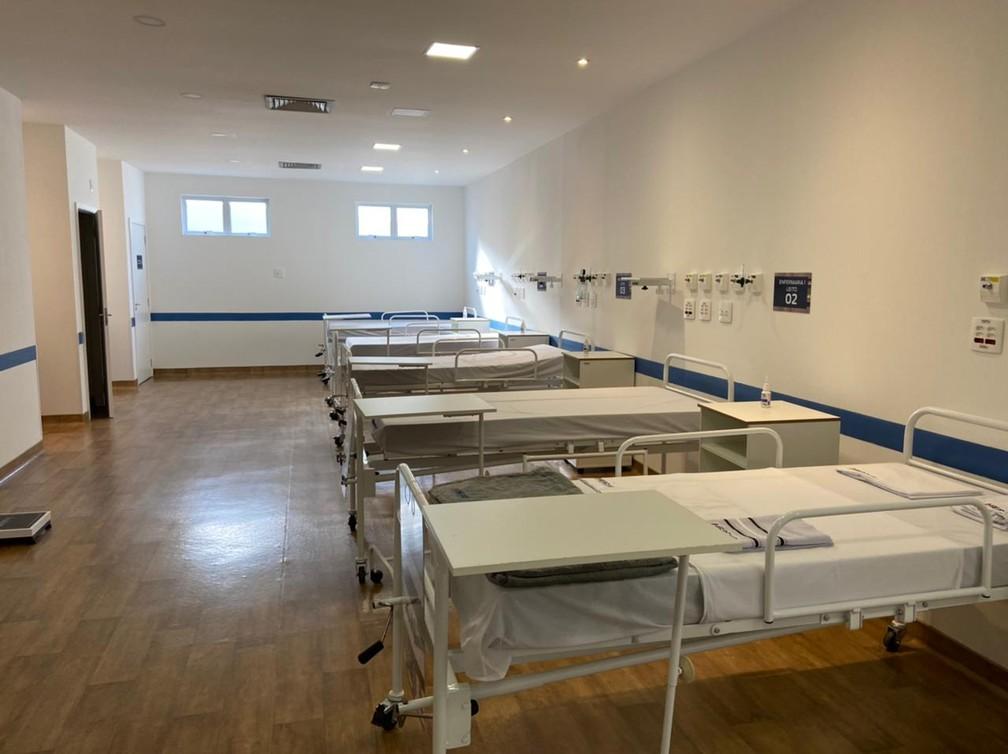 Hospital modular em Nova Iguaçu é inaugurado — Foto: Diego Haidar/TV Globo