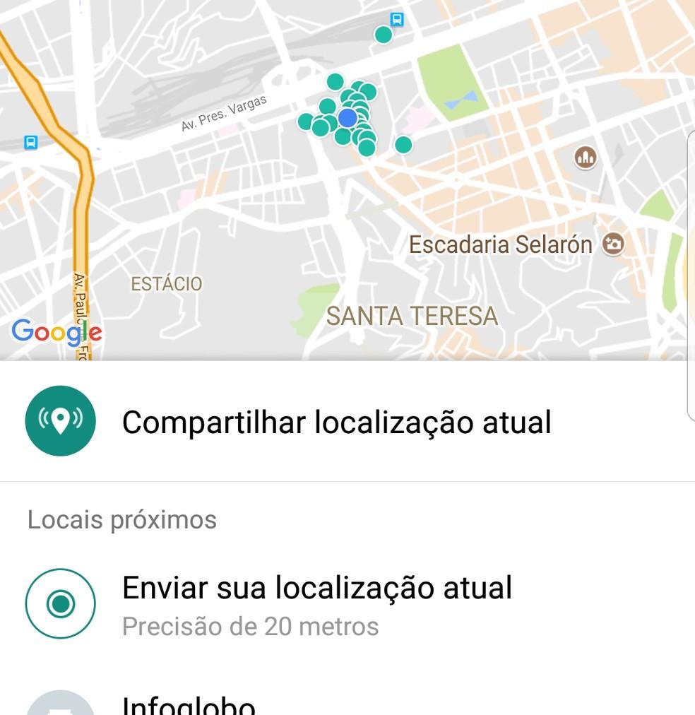 screenshot 20171019 161210 - Com atraso, WhatsApp libera mapa com localização ao vivo dos amigos