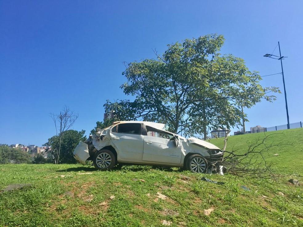 Vítimas foram socorridas pelo Serviço de Atendimento Móvel de Urgencia (SAMU) — Foto: German Maldonado/TV Bahia