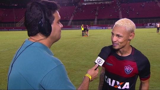Autor do gol do Vitória, Neilton diz que gol foi importante para a equipe