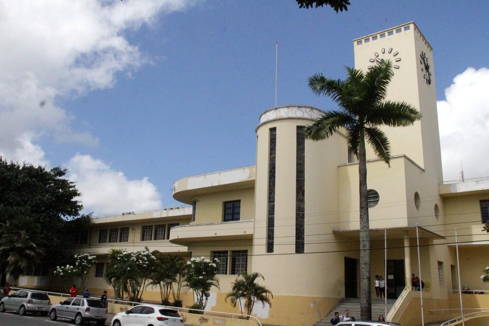Escola Liceu Paraibano, no Centro de João Pessoa — Foto: Dani Fechine/G1