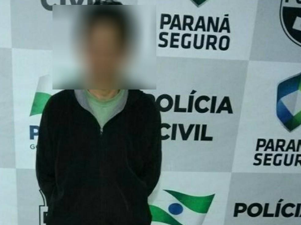 Rapaz foi detido em Araucária depois de assediar mulher em ônibus, de acordo com a Guarda Municipal (Foto: Guarda Municipal de Araucária/Divulgação)