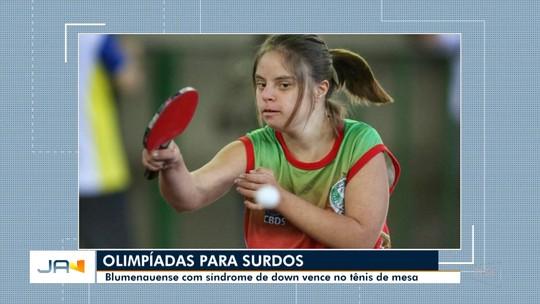 Blumenauense com síndrome de down vence as Olimpíadas para Surdos