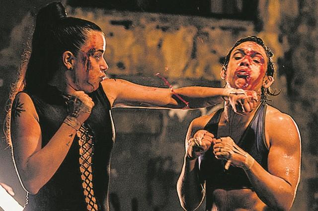 Natallia Rodrigues no filme 'Virando a mesa' (Foto: Divulgação)