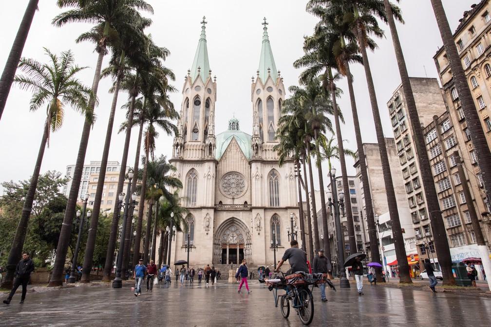 Catedral da Sé, no Centro de São Paulo  — Foto: Celso Tavares/G1