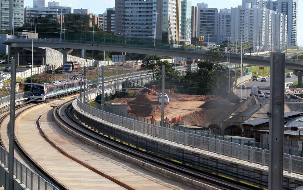 Linha 2 enfrentou lentidão no sábado (1º). — Foto: Alberto Coutinho/ GOVBA